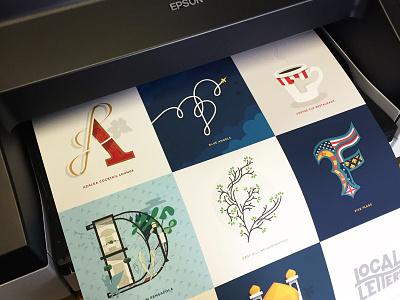 Proofing print illustration typography alphabet lettering