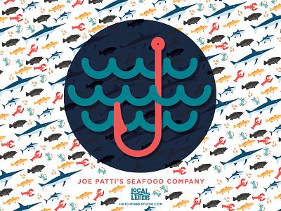 J is for Joe Patti's Seafood Company seafood fish handlettering typography type logo lettering illustration j branding alphabet