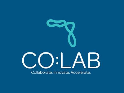 Co:Lab Logo cowork entrepreneur type illustration florida brand branding logo