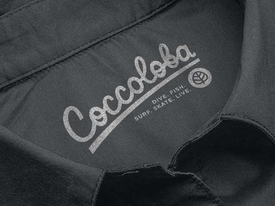 Coccoloba clothing script typography lettering type brand branding logo