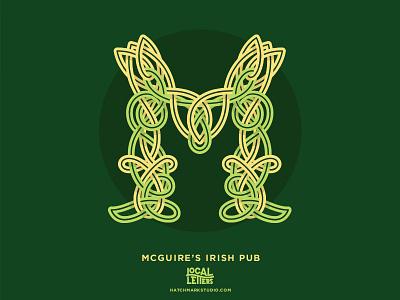 M is for McGuire's Irish Pub celtic knot celtic irish handlettering typography type logo lettering illustration m branding alphabet
