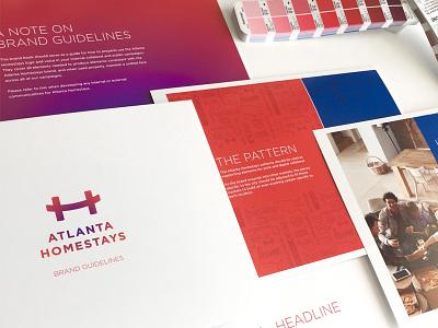 Atlanta Homestays - Brand Guideines pattern atlanta brand guidelines brand system logo brand branding