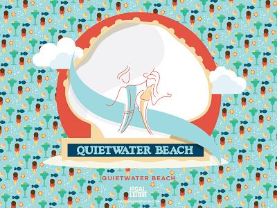 Q is for Quietwater Beach margaritas ice cream summer beach handlettering typography type logo lettering illustration q alphabet