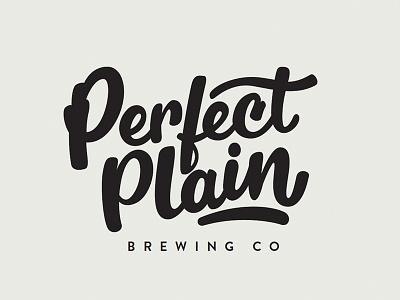 Perfect Plain Branding - R1 brewery brush lettering brush script type lettering hand lettering beer logo branding brand