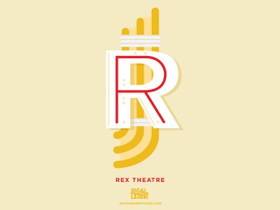 R is for Rex Theatre marquee typography letter illustration handlettering branding pensacola theater theatre r alphabet