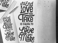 Skateboard Scribbles quote stack handlttering type draw lyrics typography script hand lettering lettering
