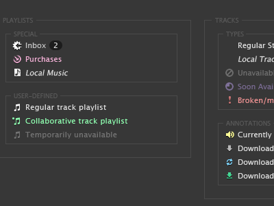 Spotify misc iconography