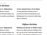 Self-organizing, topic-based news in a classic layout