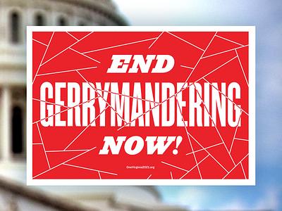 Redistricting Reform Rally Signs gerrymandering political typography va rva design rvadesign richmond