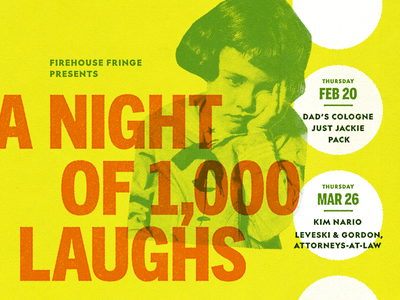 A Night of 1,000 Laughs/Laffs improv theater promo poster va rvadesign richmond comedy rva