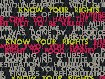 """Know Your Rights"" typography political the clash design rva rvadesign richmond"