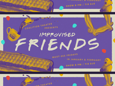 Improvised Friends va pals buds chums friends rvadesign rva comedy rvacomedy design richmond