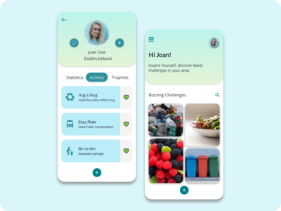 User Profile design for JouleBug app