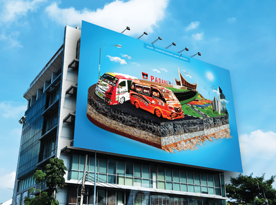 digital imaging of sumatera barat billboard
