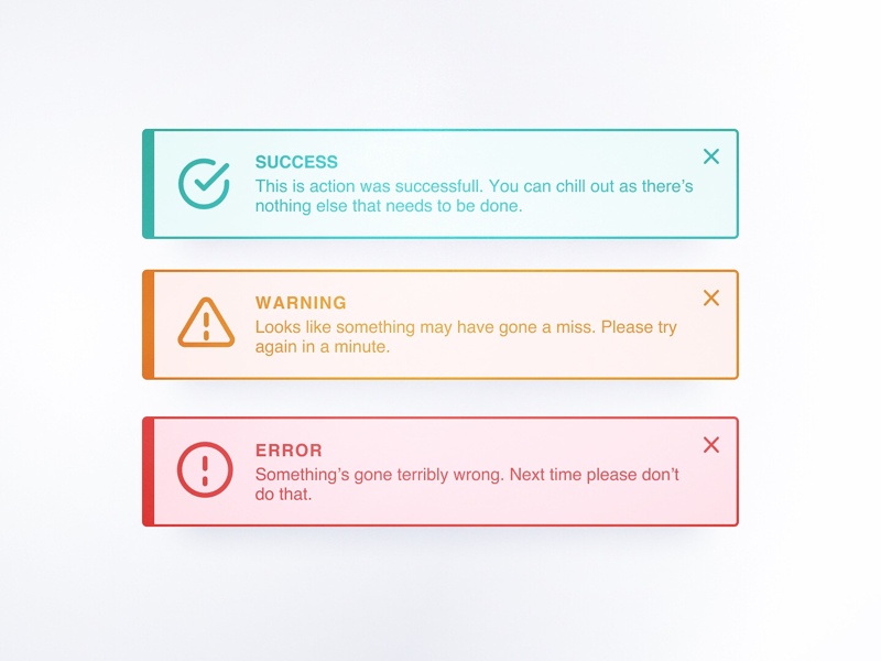 DailyUI 011 - Flash messages 011 dailyui011 dailyui flash message
