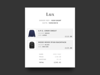 DailyUI 017 - Email receipt