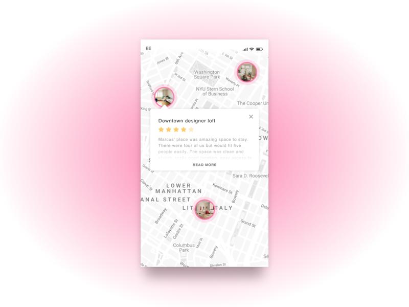 DailyUI 020 - Location app design hotel booking hotel app location dailyui