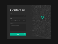 DailyUI 028/029- Contact and map