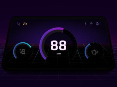 DailyUI 034 - Car Interface