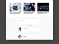 DailyUI 035 - Blog page - Comment section