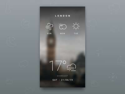 DailyUI 037 - Weather