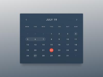 DailyUI 038 - Calendar