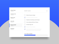 DailyUI 042 - Todo list