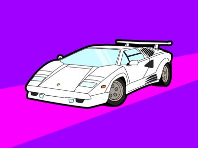 80s Cars - Lamborghini Countach