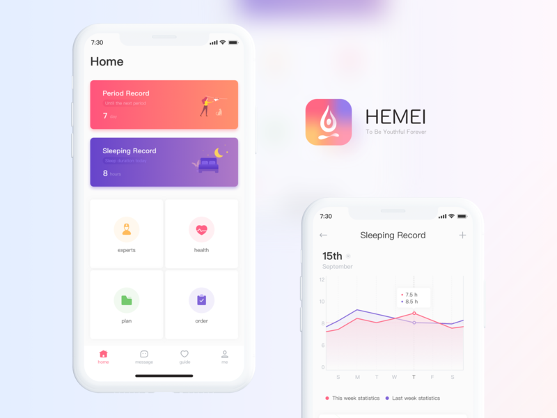 hemei illustration logo app