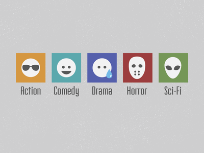 Movie Genre Icons movies genres icons minimalist flat