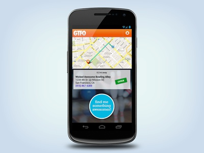 GTFO Android App android ui app location