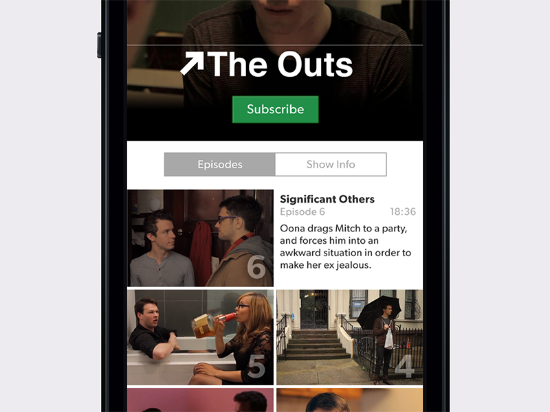 Series Screen ios app ui dynamic