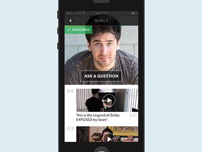 Series (Subscribed) ios app ui dynamic videos