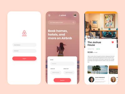 Air bnb mobile app UI Redesigned
