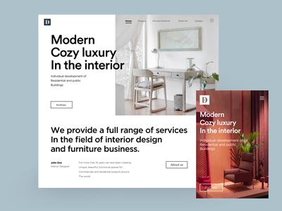 Dot works landing page typography ux ui landing page web desktop design designer clean mobile uiux minimal architecture interior design interaction interior