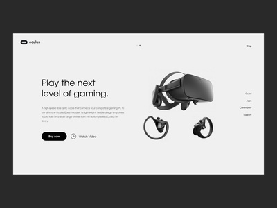 Oculus website - Exploration