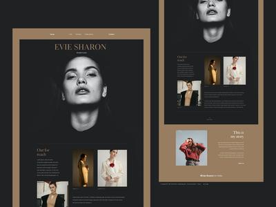 Fashion model website concept. typography ui ux web branding landing wensite models fashion design website personal modeling landingpage supermodel model fashion