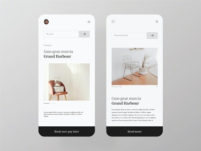 Minimal hotel booking app landing page ux web minimal design ui white space white pastel homepage uiux clean ui clean restuarant hotel