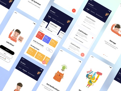 Task manager app type new homepage landingpage illustration typography clean ux minimal design ui illustraion task management task manager