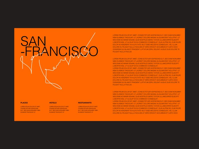 san francisco poster portfolio trend new clean layout layout arrangement text typography clean design menu design minimal composition modern orange poster menu