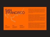 san francisco poster portfolio trend new clean layout layout arrangement text typography clean design menu design minimal composition modern orange poster menu