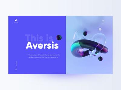 Design studio landing page landing page website typography ux clean minimal design ui 3d design agency aversis design studio