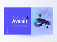 Design studio landing page landing page website typography ux clean minimal design ui 3d design agency aversis design studio