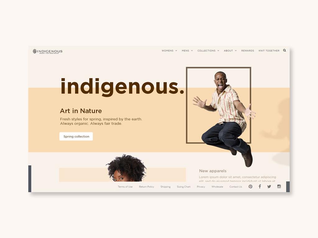 Indigenous website type minimal web typography ux ui design