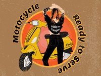 Vespa Girls Pable Cloth Design