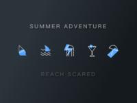 Summer Adventure icon ui illustration