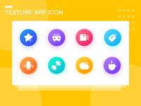 Texture App Icon 设计 ui 图标 插图