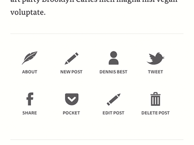 Simple blog footer