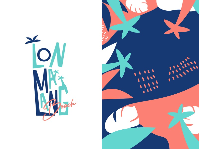 Lonmalang Beach Logo and Brand Concept