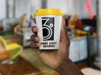 360° branded coffee cup
